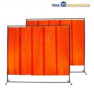 2 x Schweißerschutzwand, orange